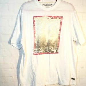SEAN JEAN WHITE 69 SEQUIN T-SHIRT XL